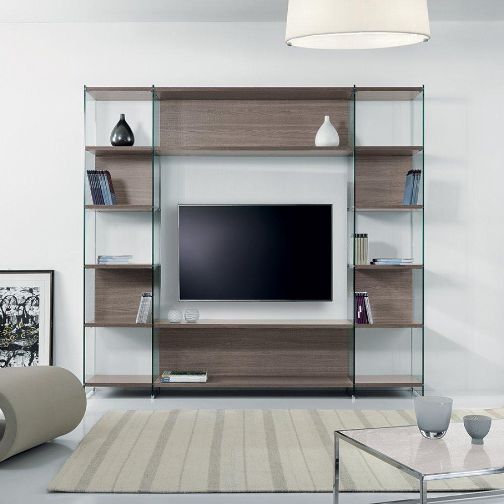 Ensemble mural tv meubles et rangements composition murale tv babylone orme - Composition murale tv design ...