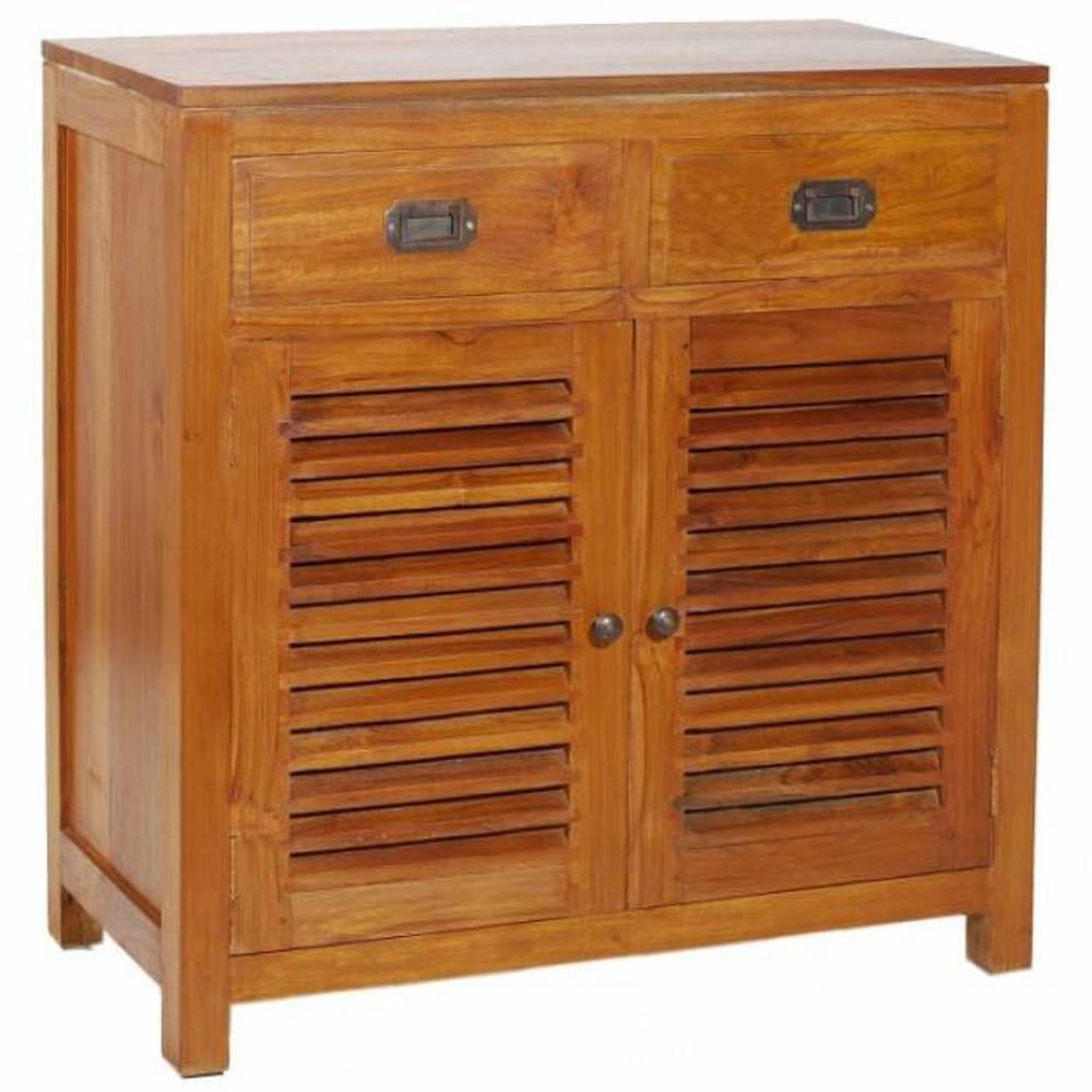 Buffets meubles et rangements bahut 2 portes persienne for Meuble porte persienne