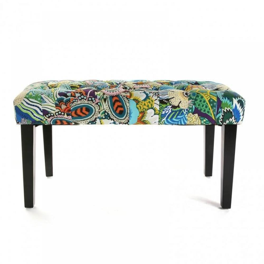 bancs tables et chaises banc agnes tissu flower patchwork inside75. Black Bedroom Furniture Sets. Home Design Ideas
