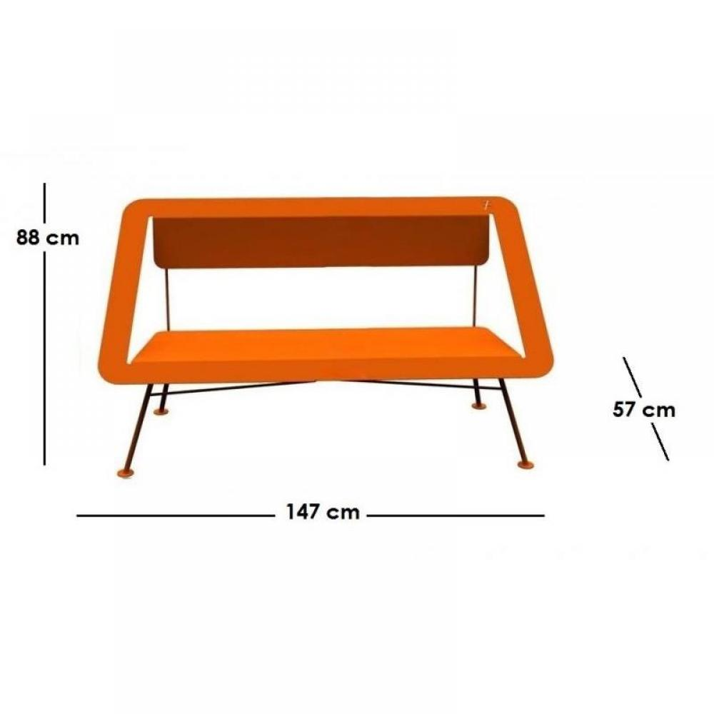 Bancs meubles et rangements banc jardin 2 places orange 4x4 different - Banc de jardin 2 places ...