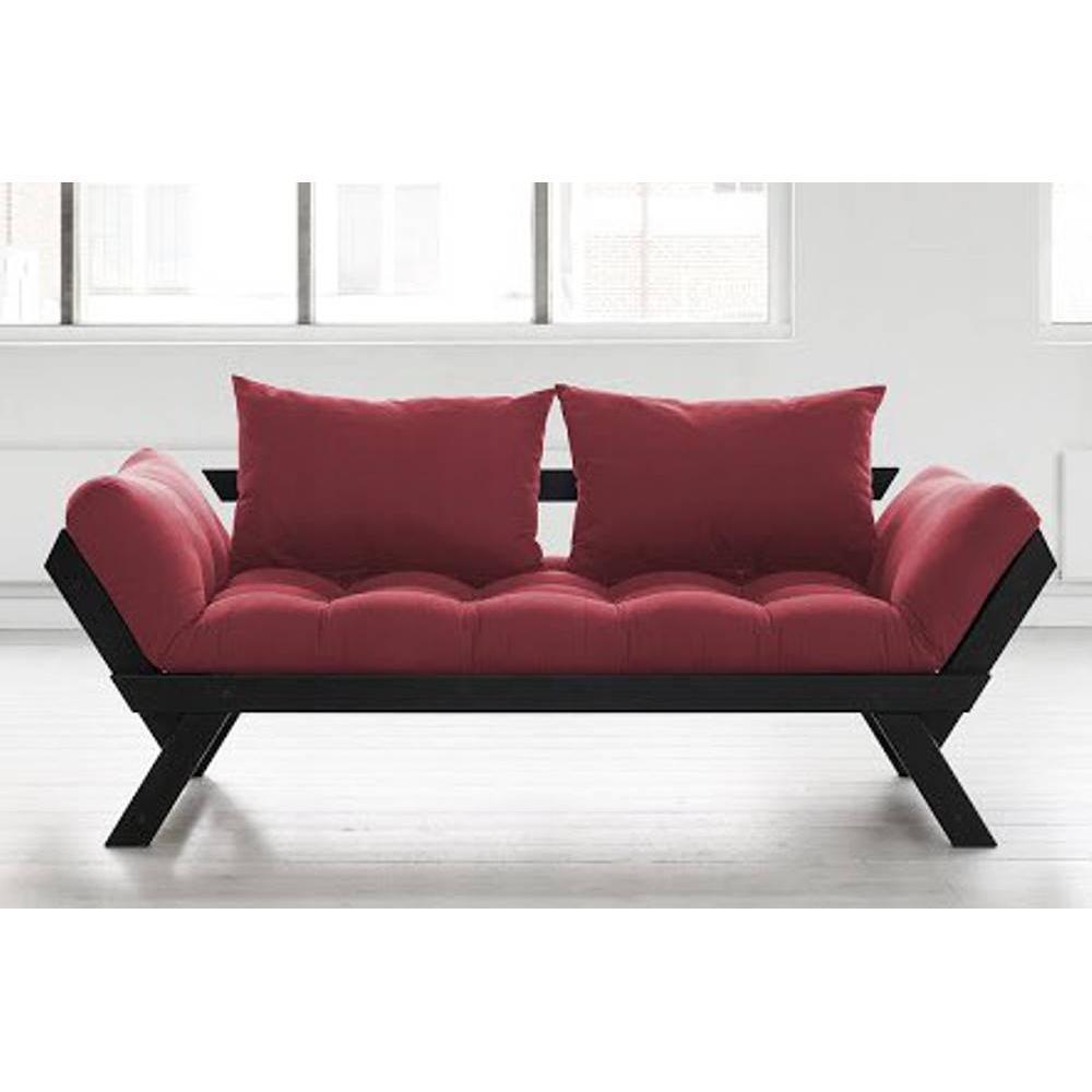 canap banquette futon convertible au meilleur prix banquette m ridienne noire futon brique. Black Bedroom Furniture Sets. Home Design Ideas