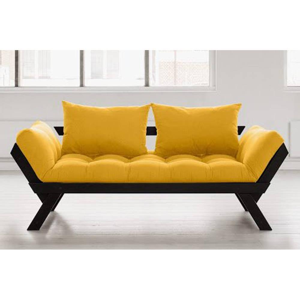 canap banquette futon convertible au meilleur prix banquette m ridienne noire futon jaune. Black Bedroom Furniture Sets. Home Design Ideas