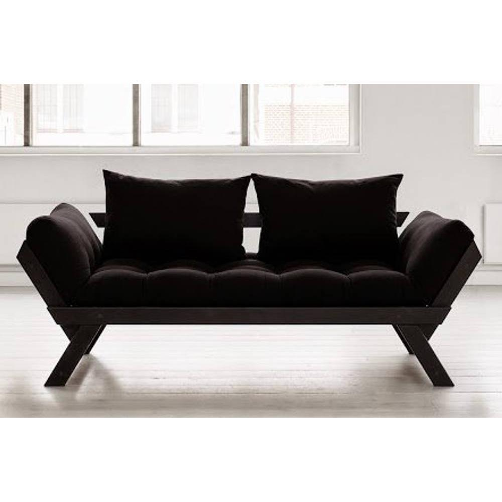 canap banquette futon convertible au meilleur prix banquette m ridienne noire futon noir. Black Bedroom Furniture Sets. Home Design Ideas