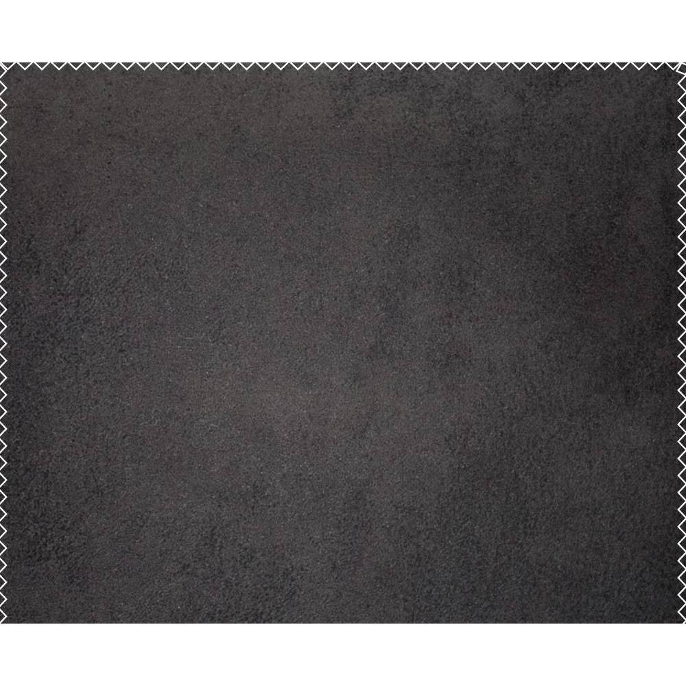 Banquette méridienne BEBOP noire futon en tissu enduit noir vintage couchage 75*200cm