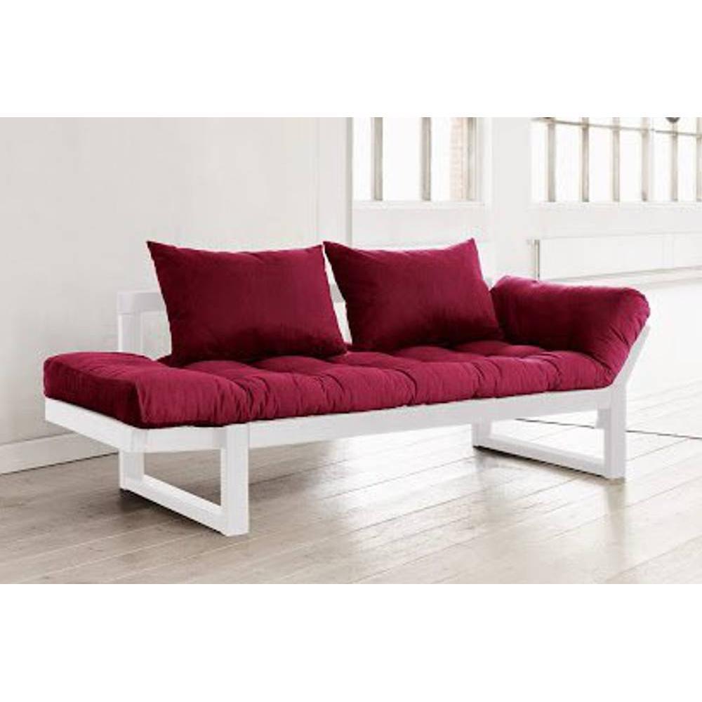 canap banquette futon convertible au meilleur prix banquette m ridienne blanche futon. Black Bedroom Furniture Sets. Home Design Ideas