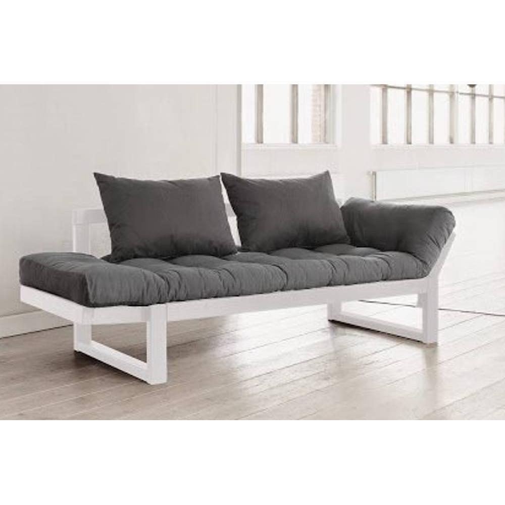 canap banquette futon convertible au meilleur prix banquette m ridienne blanche futon gris. Black Bedroom Furniture Sets. Home Design Ideas