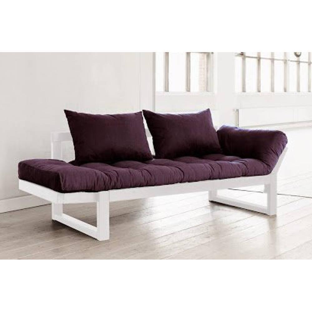 canap banquette futon convertible au meilleur prix banquette m ridienne blanche futon violet. Black Bedroom Furniture Sets. Home Design Ideas