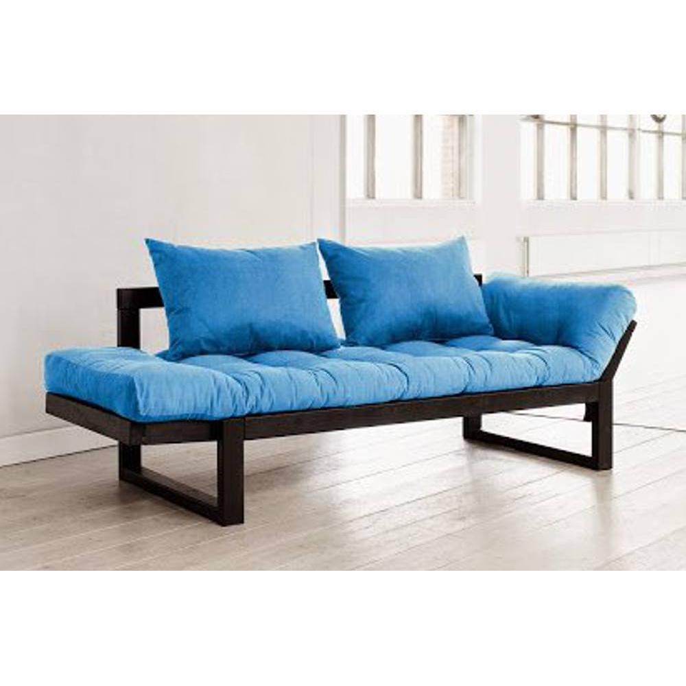 canap banquette futon convertible au meilleur prix banquette m ridienne noire futon azur. Black Bedroom Furniture Sets. Home Design Ideas