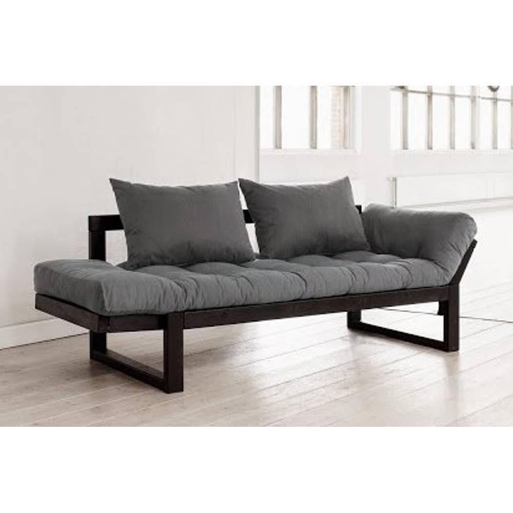 canap banquette futon convertible au meilleur prix banquette m ridienne noire futon gris. Black Bedroom Furniture Sets. Home Design Ideas