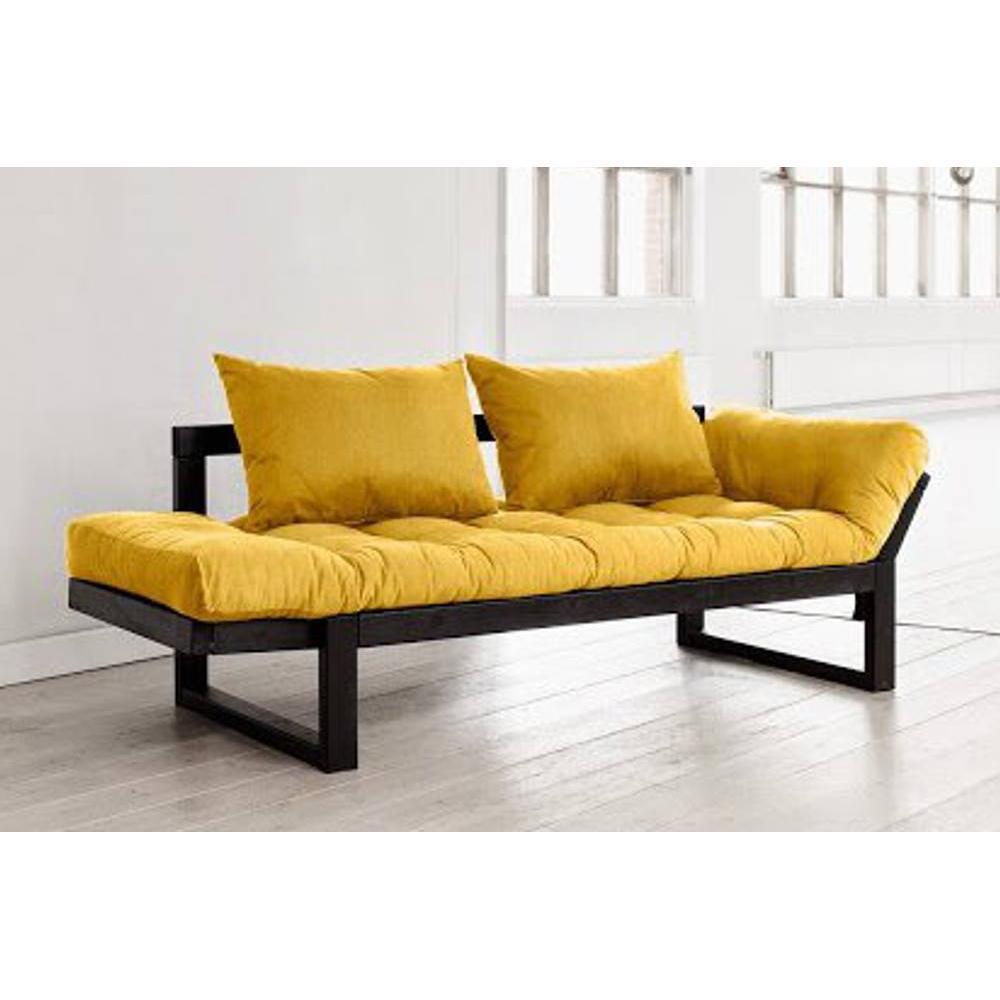 canap banquette futon convertible au meilleur prix banquette m ridienne noire futon jaune. Black Bedroom Furniture Sets. Home Design Ideas