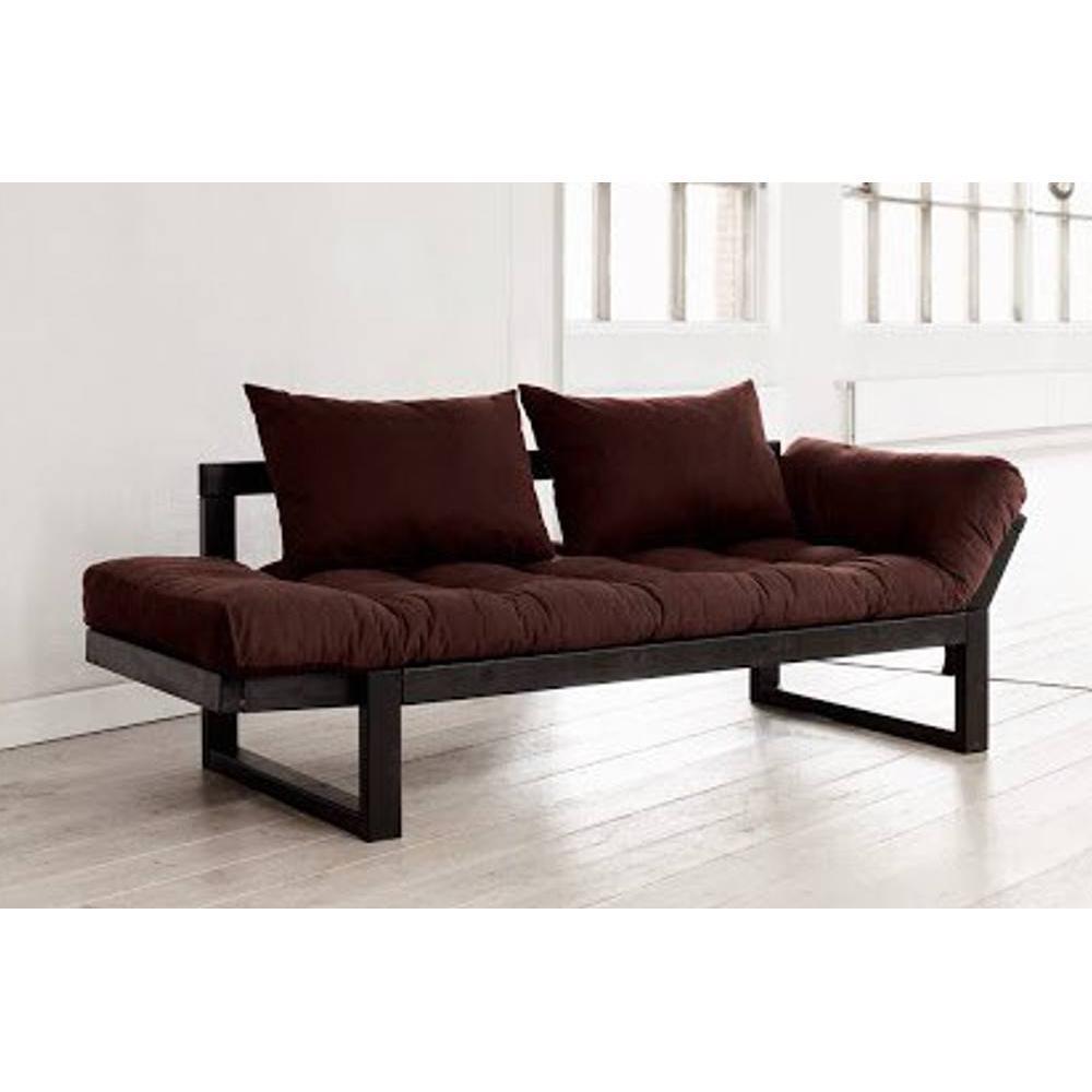 canap banquette futon convertible au meilleur prix banquette m ridienne noire futon marron. Black Bedroom Furniture Sets. Home Design Ideas