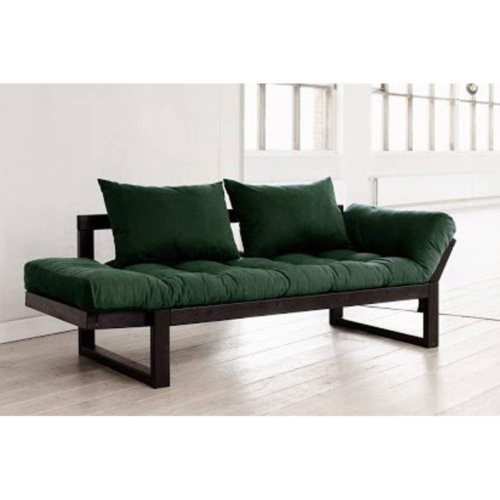 canap banquette futon convertible au meilleur prix banquette m ridienne noire futon vert. Black Bedroom Furniture Sets. Home Design Ideas