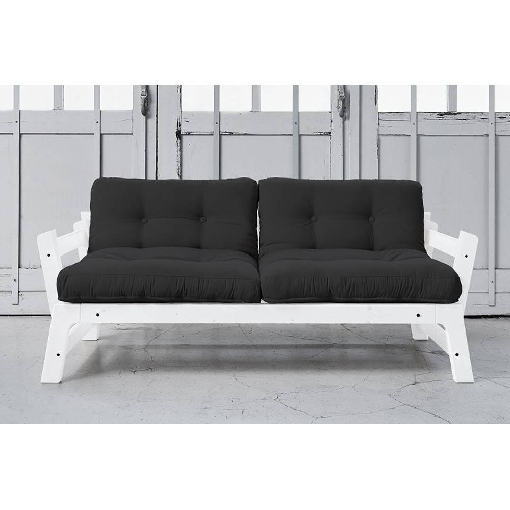 banquette convertible blanche step matelas futon couchage. Black Bedroom Furniture Sets. Home Design Ideas