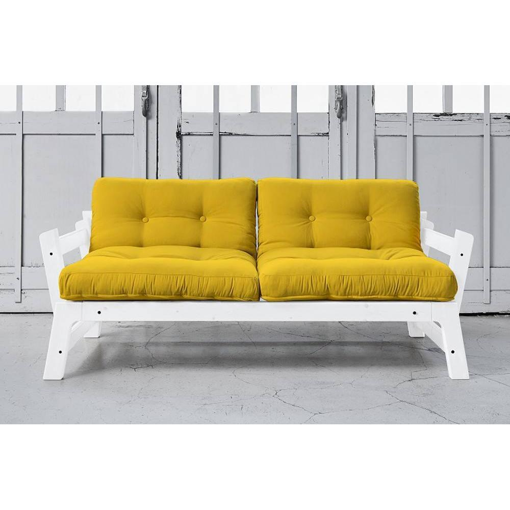 canap convertible au meilleur prix banquette convertible blanche step matelas futon jaune. Black Bedroom Furniture Sets. Home Design Ideas