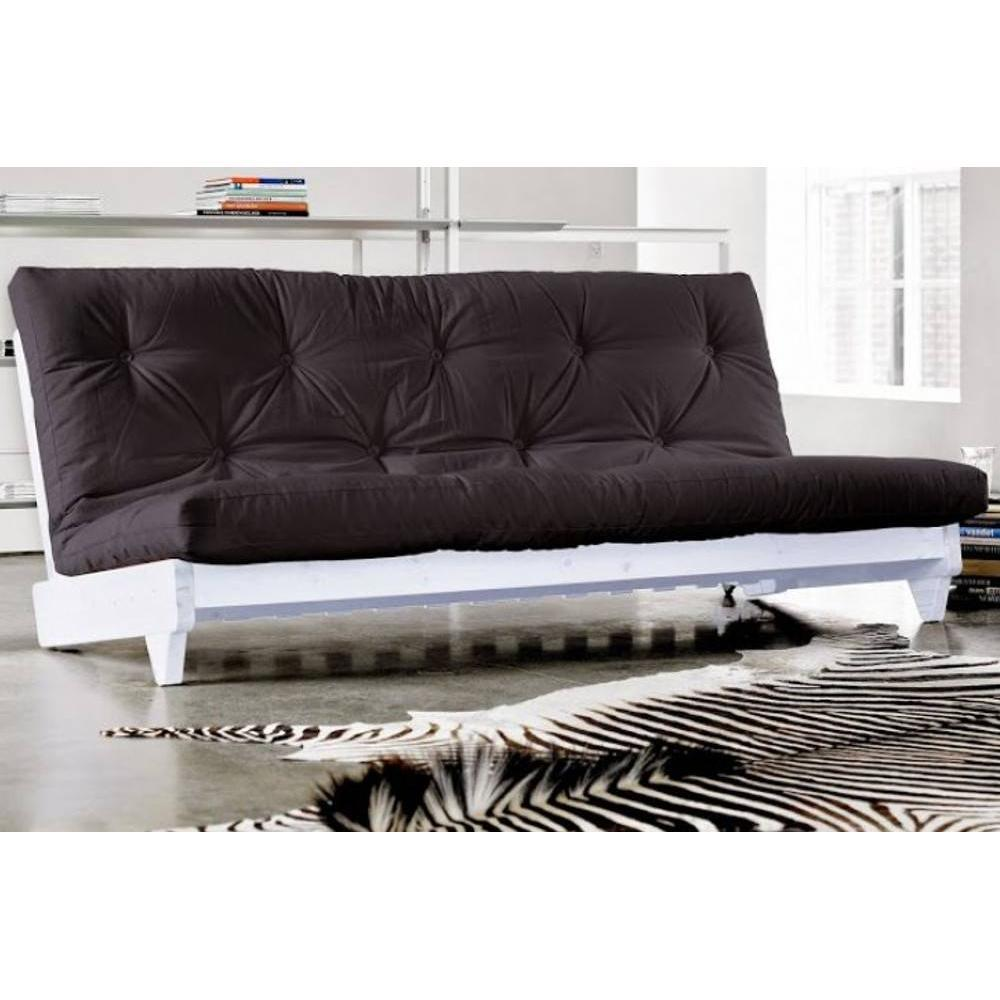 banquette lit blanc futon noir fresh grey graphite 3 places convertible eur 601 00 picclick fr. Black Bedroom Furniture Sets. Home Design Ideas