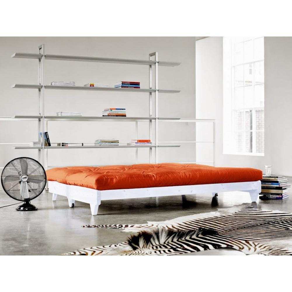 canap banquette futon convertible au meilleur prix banquette lit blanc futon orange fresh 3. Black Bedroom Furniture Sets. Home Design Ideas