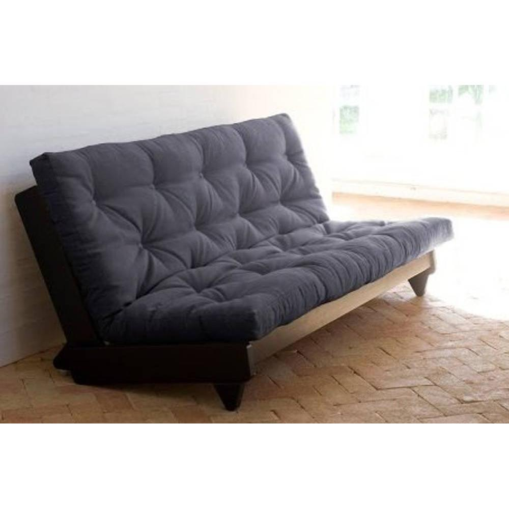 canap banquette futon convertible au meilleur prix banquette lit weng futon grey graphite. Black Bedroom Furniture Sets. Home Design Ideas