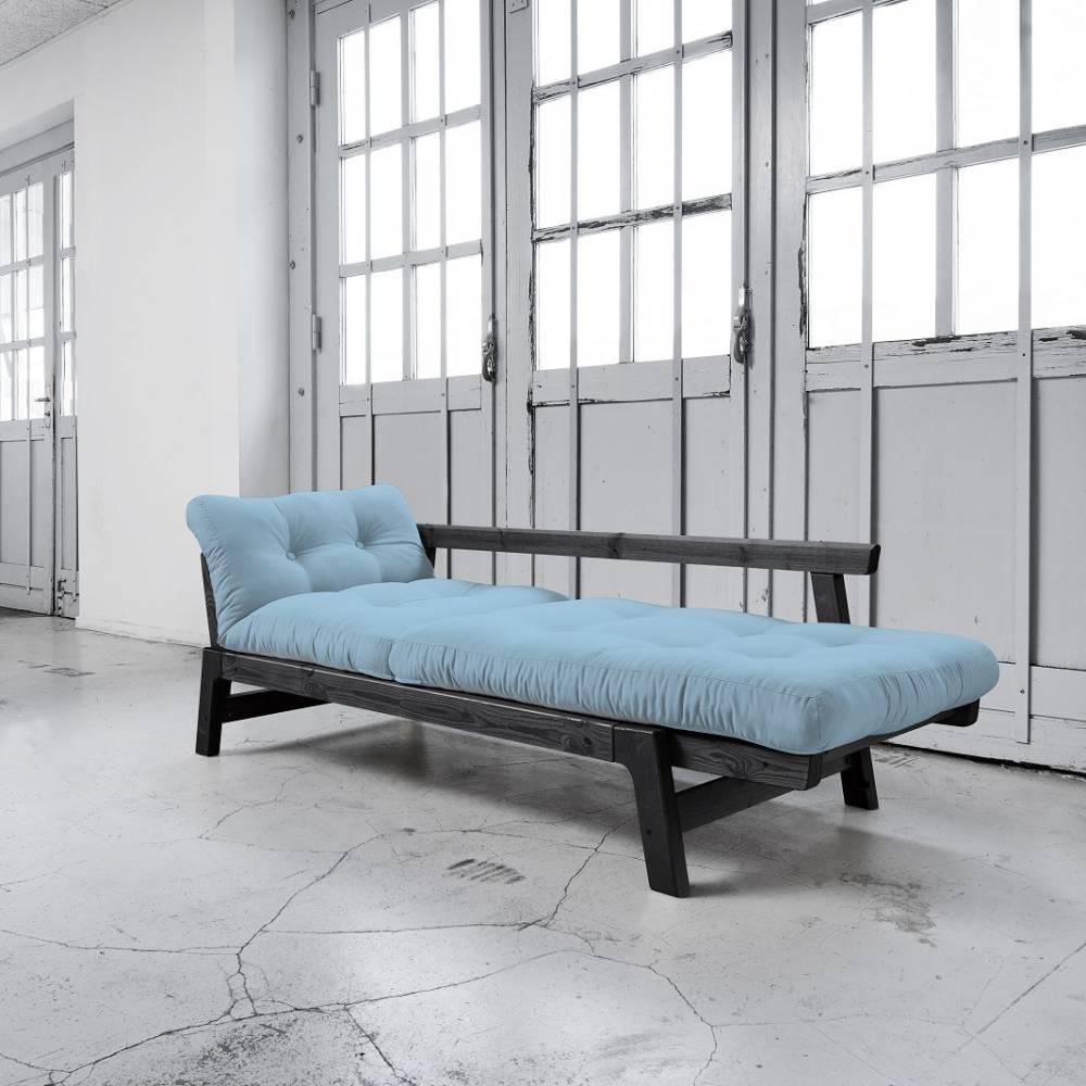 canap convertible au meilleur prix banquette convertible step noire matelas futon bleu celeste. Black Bedroom Furniture Sets. Home Design Ideas