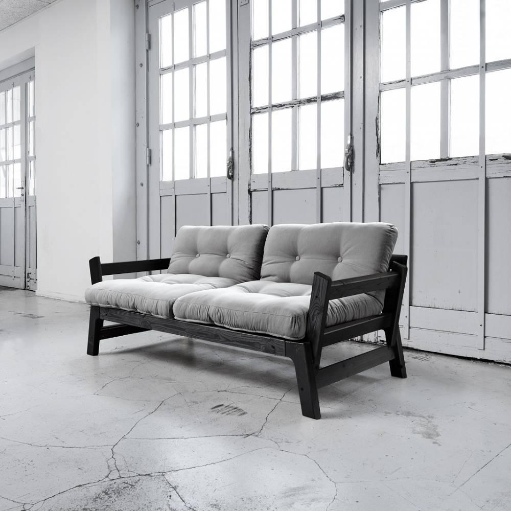 Canap banquette futon convertible au meilleur prix banquette convertible step noire matelas - Banquette futon convertible ...