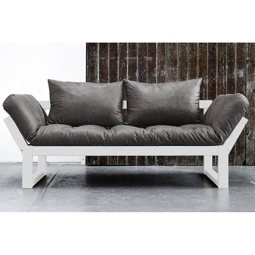canap convertible au meilleur prix banquette m ridienne blanche edge futon en tissu enduit. Black Bedroom Furniture Sets. Home Design Ideas