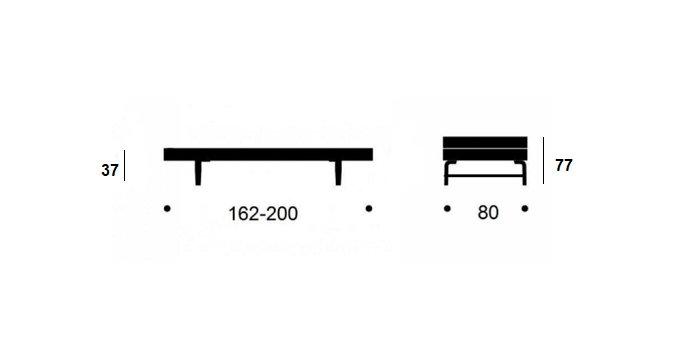 Banquette méridienne futon BEAT pin naturel tissu coloris bleu pétrole couchage 75*200 cm.