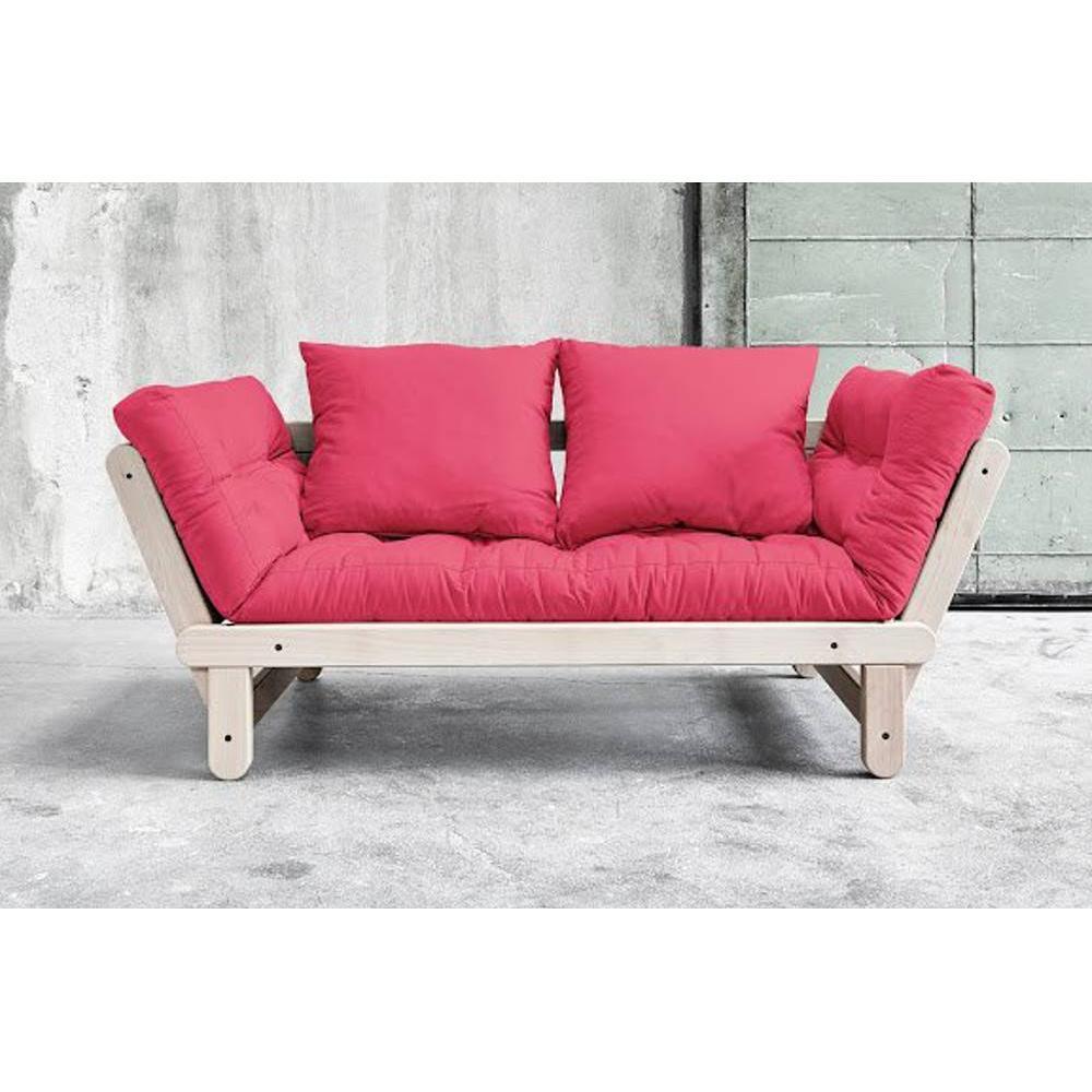 Banquette m ridienne convertible futon rose beat beech couchage 75 200cm ebay - Banquette futon convertible ...