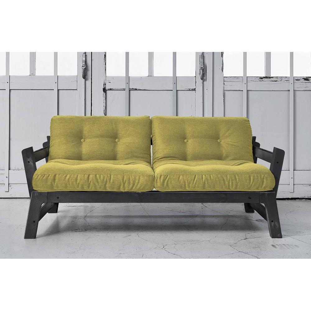 Banquette convertible step noire matelas futon avocat couchage 75 200cm ebay - Matelas futon banquette ...