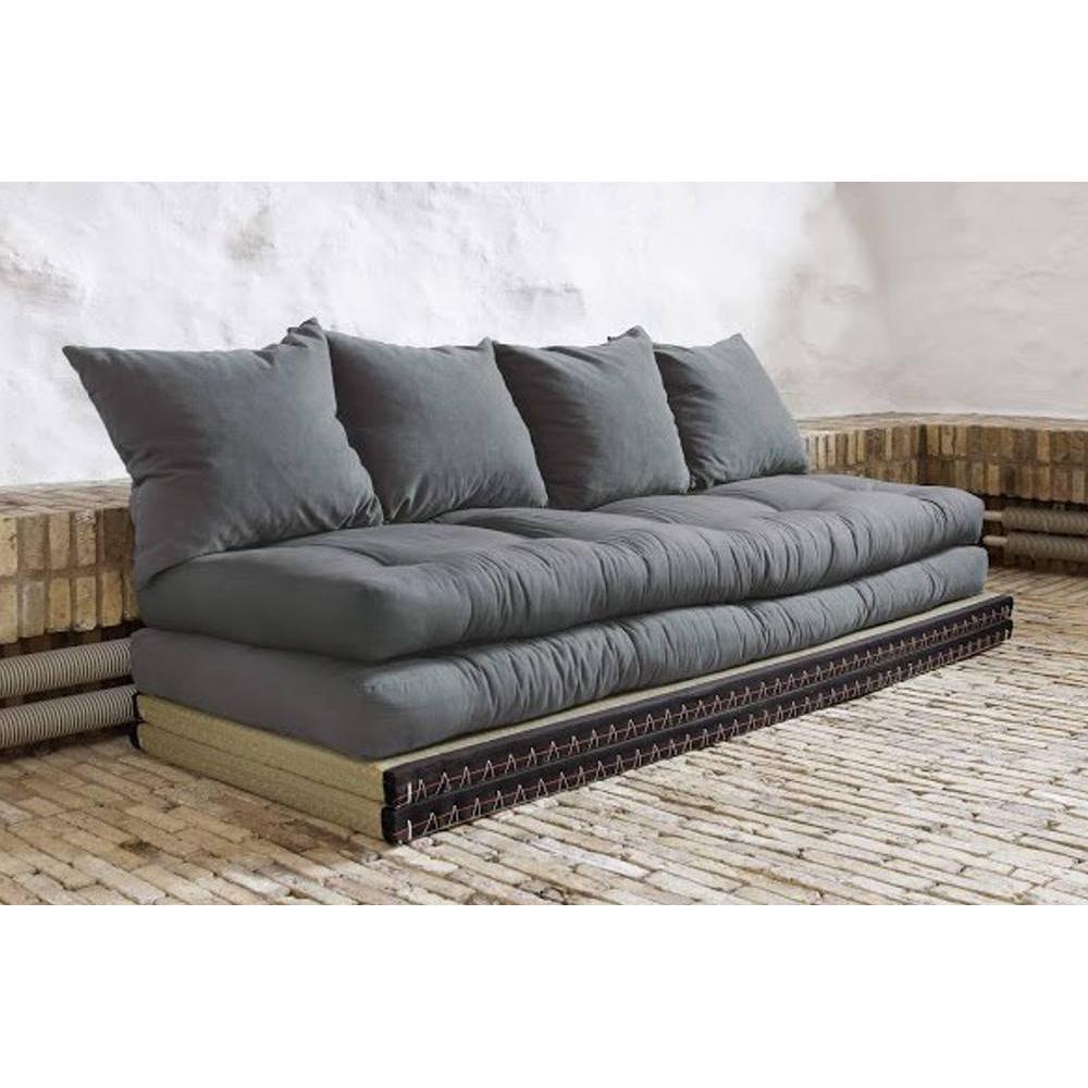 canap convertible au meilleur prix banquette convertible tatami chico matelas futon gris. Black Bedroom Furniture Sets. Home Design Ideas