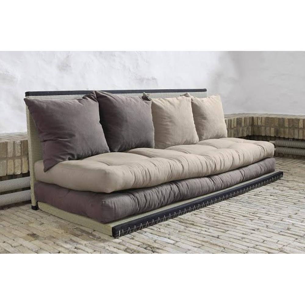 canap convertible au meilleur prix banquette convertible tatami chico matelas futon gris taupe. Black Bedroom Furniture Sets. Home Design Ideas