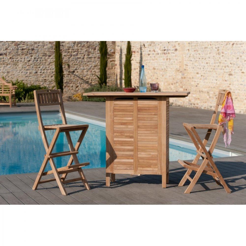 bars tables et chaises bar de jardin fun en teck multi rangements inside75. Black Bedroom Furniture Sets. Home Design Ideas