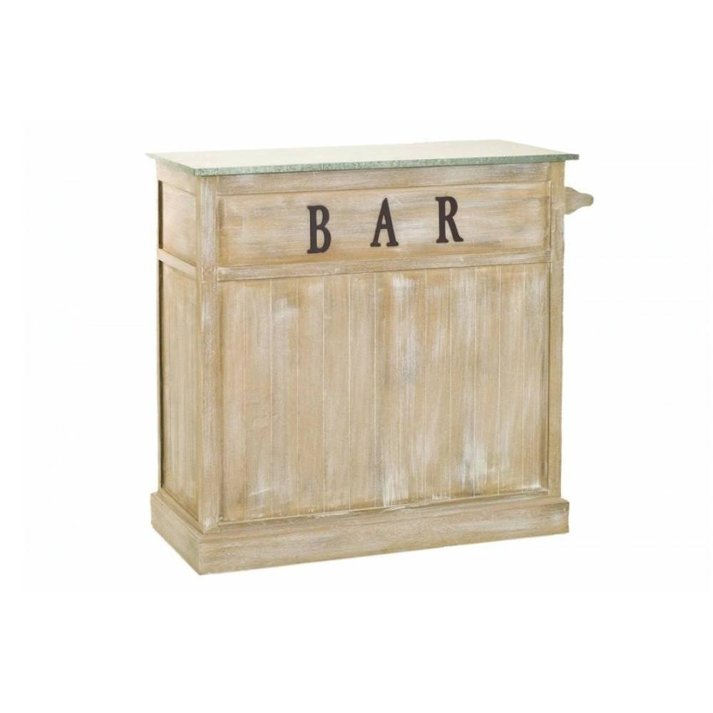 Bars tables et chaises bar multi rangements sarah en for Table en bois style campagne