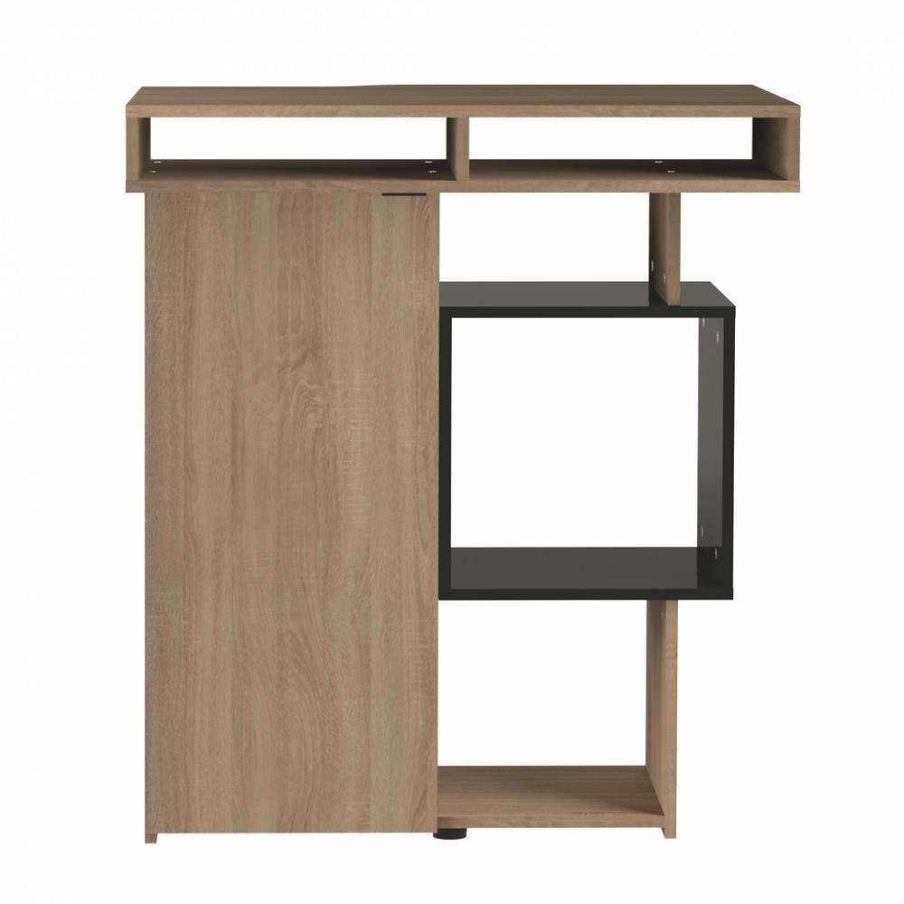 chaises meubles et rangements bar design scandinave dainn ch ne naturel et noir inside75. Black Bedroom Furniture Sets. Home Design Ideas