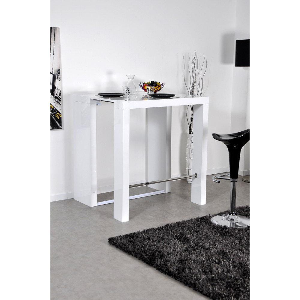 bars meubles et rangements extend bar blanc bar console haute et extensible inside75. Black Bedroom Furniture Sets. Home Design Ideas