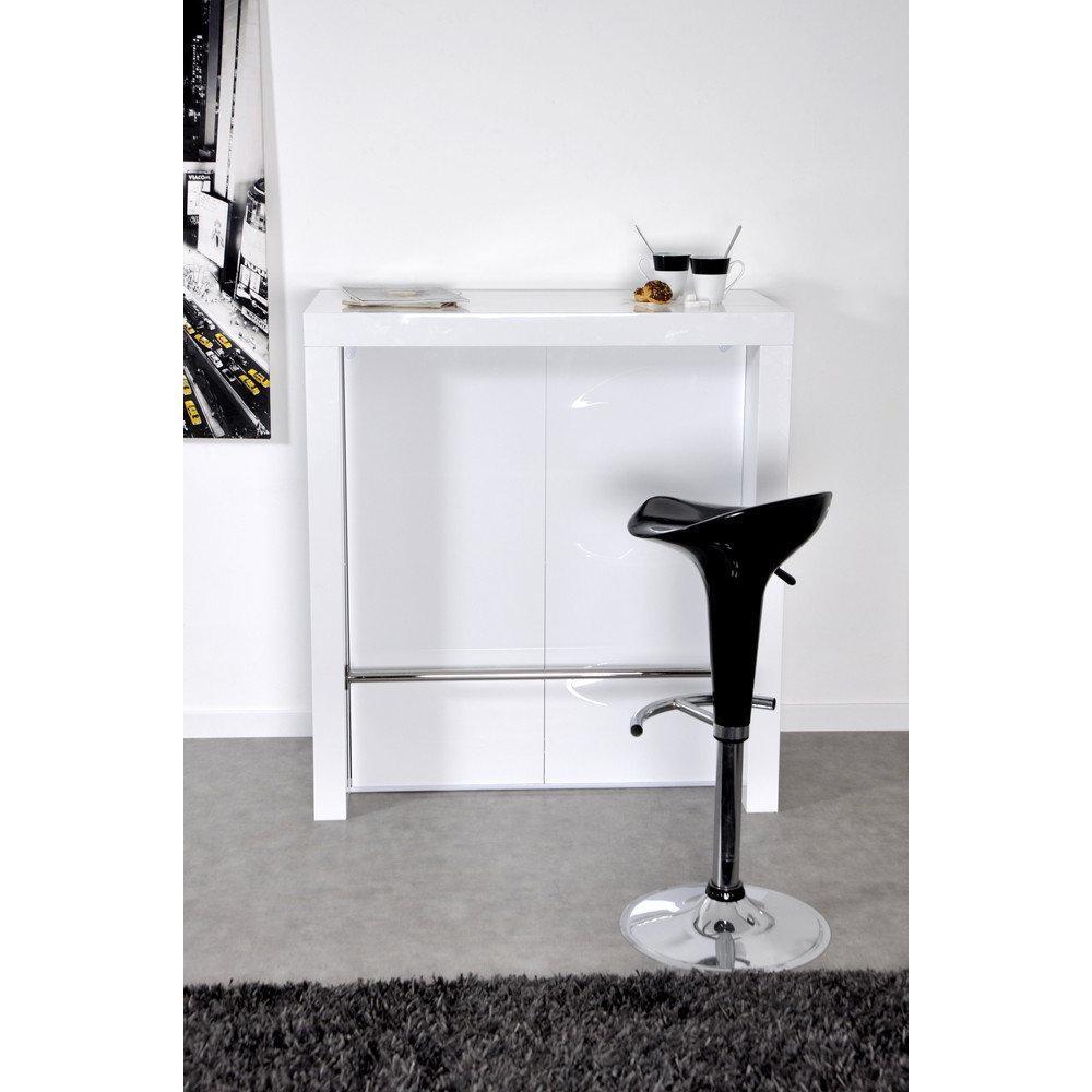 bars tables et chaises extend bar blanc bar console haute et extensible inside75. Black Bedroom Furniture Sets. Home Design Ideas