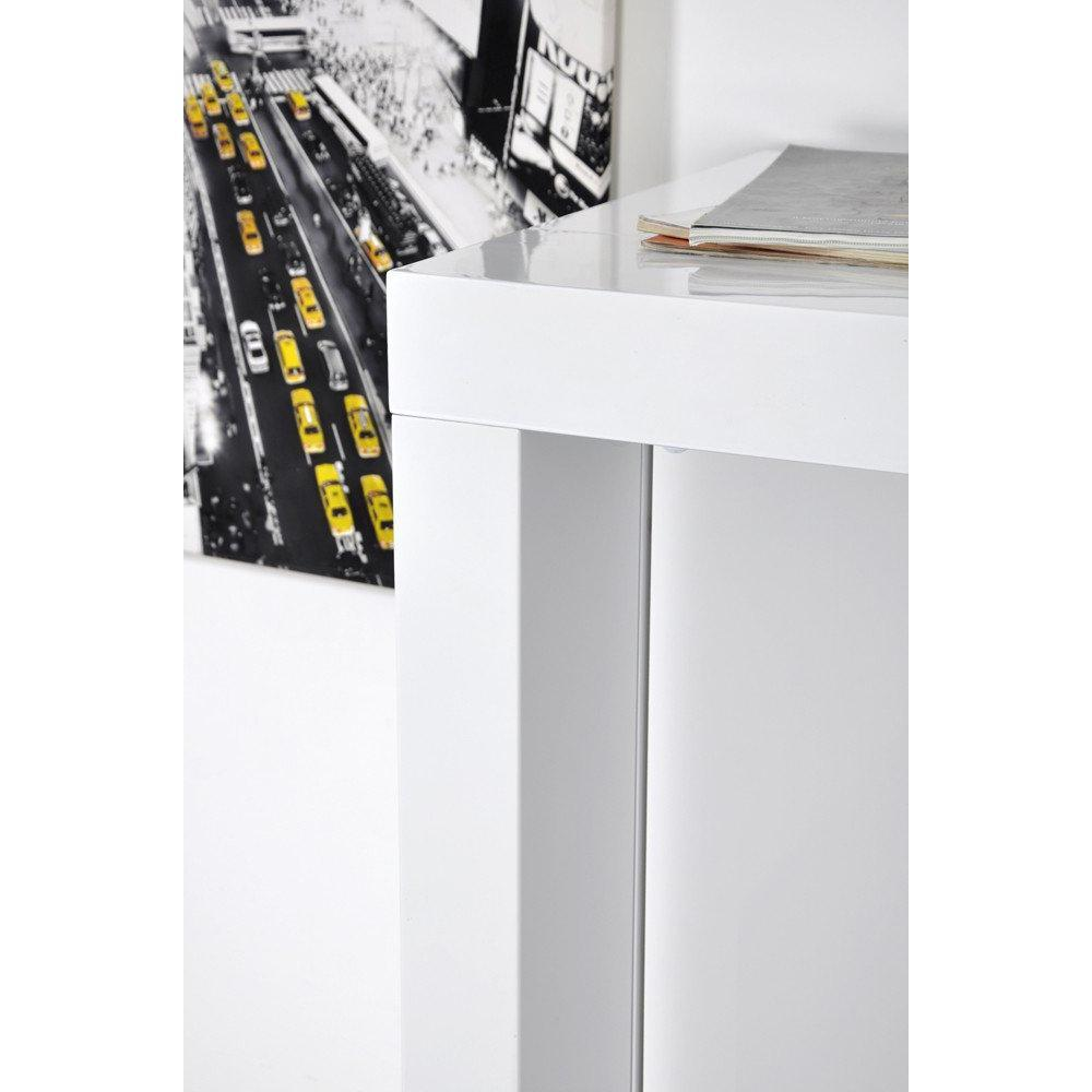 Bars tables et chaises extend bar blanc bar console haute et extensible - Table haute bar extensible ...
