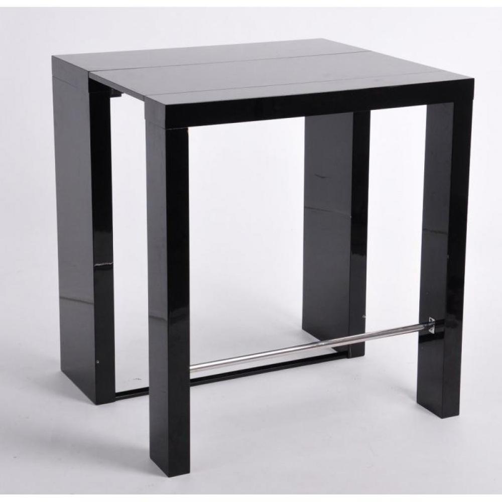 Bars tables et chaises extend bar noir bar console haute et extensible - Table haute bar extensible ...
