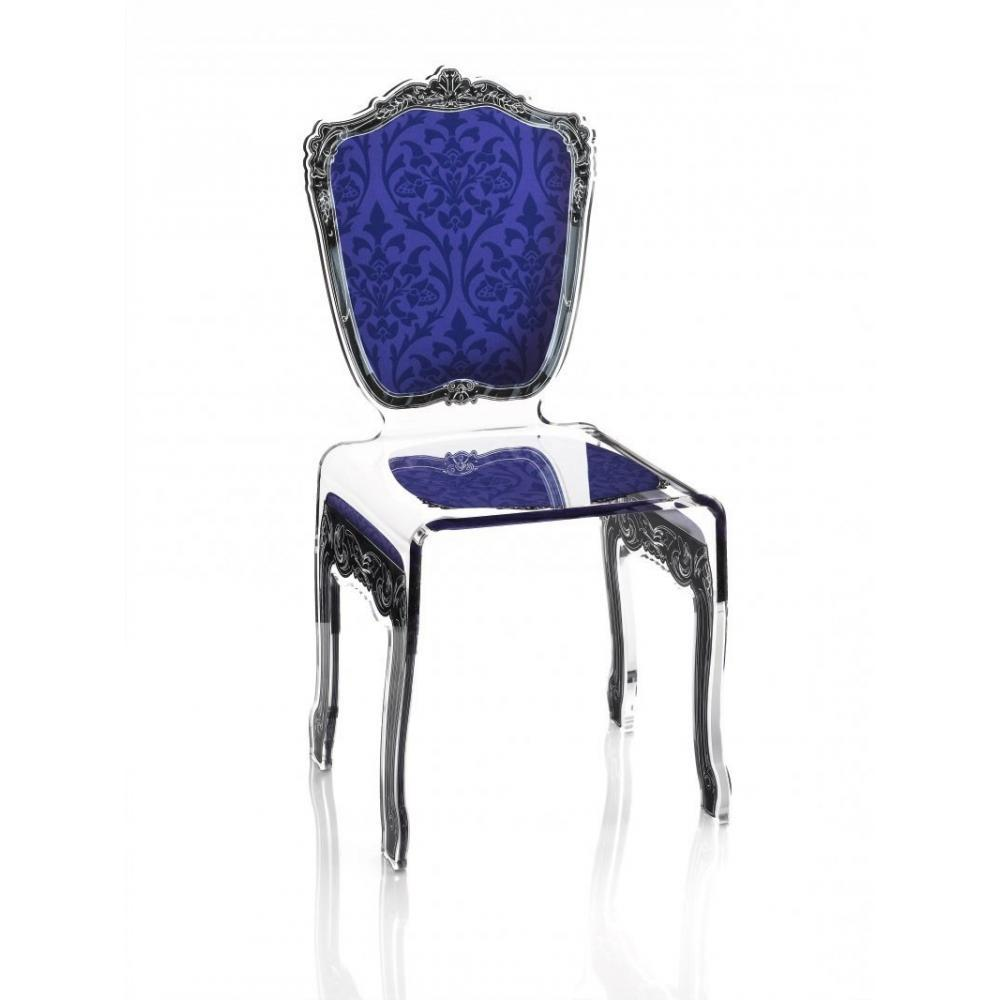Chaise BAROQUE Bleue Acrila Plexi Design