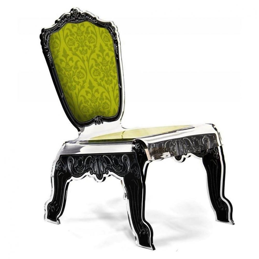 chaise design ergonomique et stylis e au meilleur prix baroque fauteuil bas en plexi vert. Black Bedroom Furniture Sets. Home Design Ideas