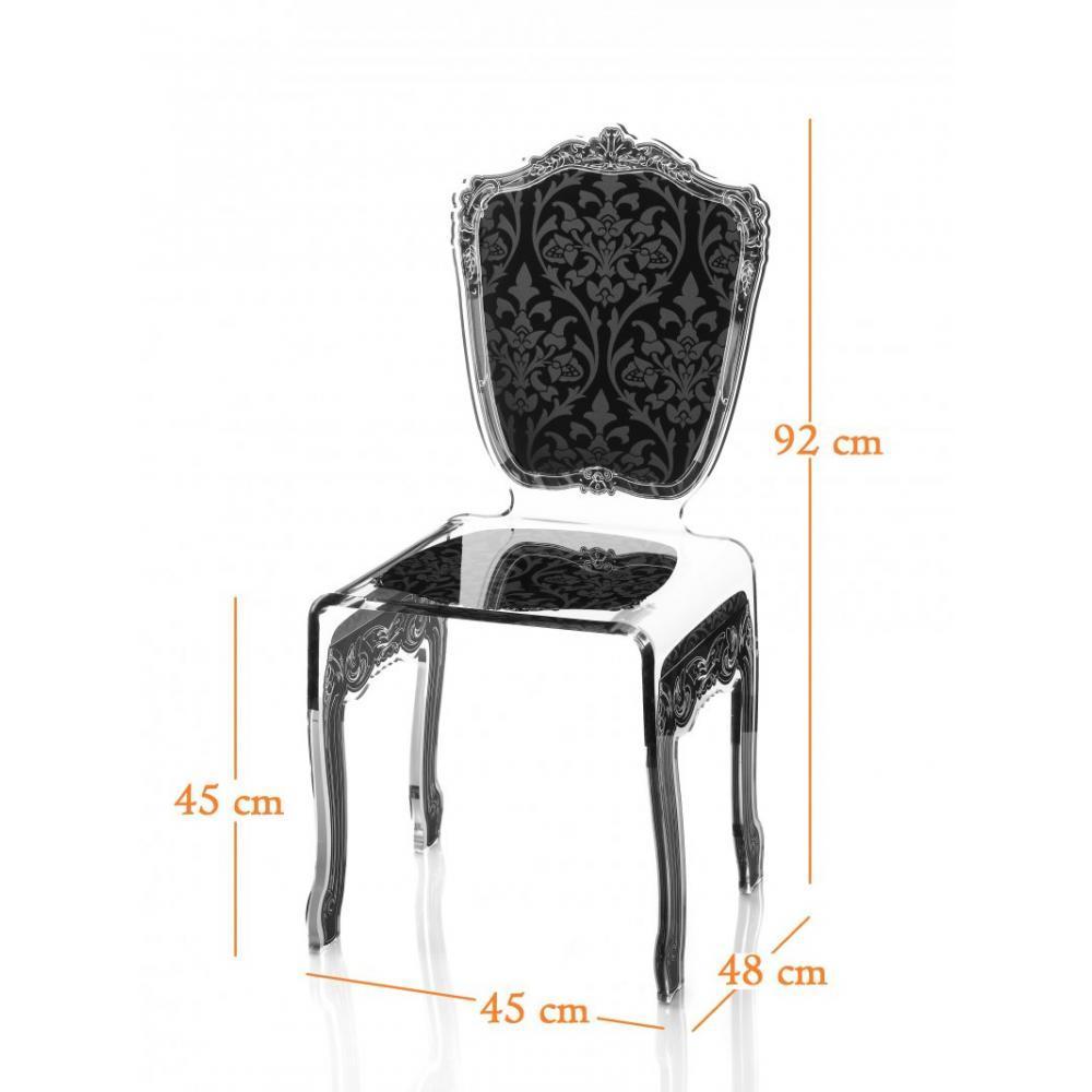 chaise design ergonomique et stylis e au meilleur prix baroque chaise en plexi noir acrila. Black Bedroom Furniture Sets. Home Design Ideas