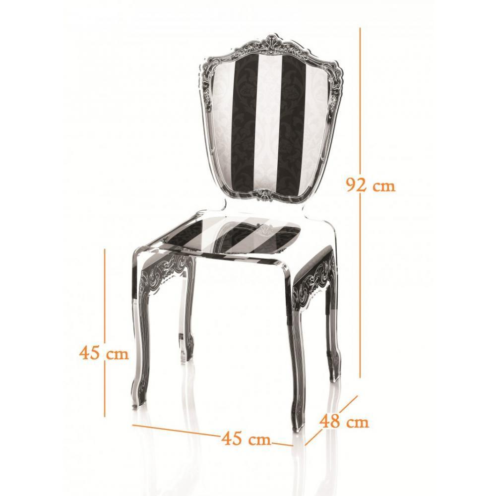 Chaise design ergonomique et stylis e au meilleur prix for Table chaise noir et blanc