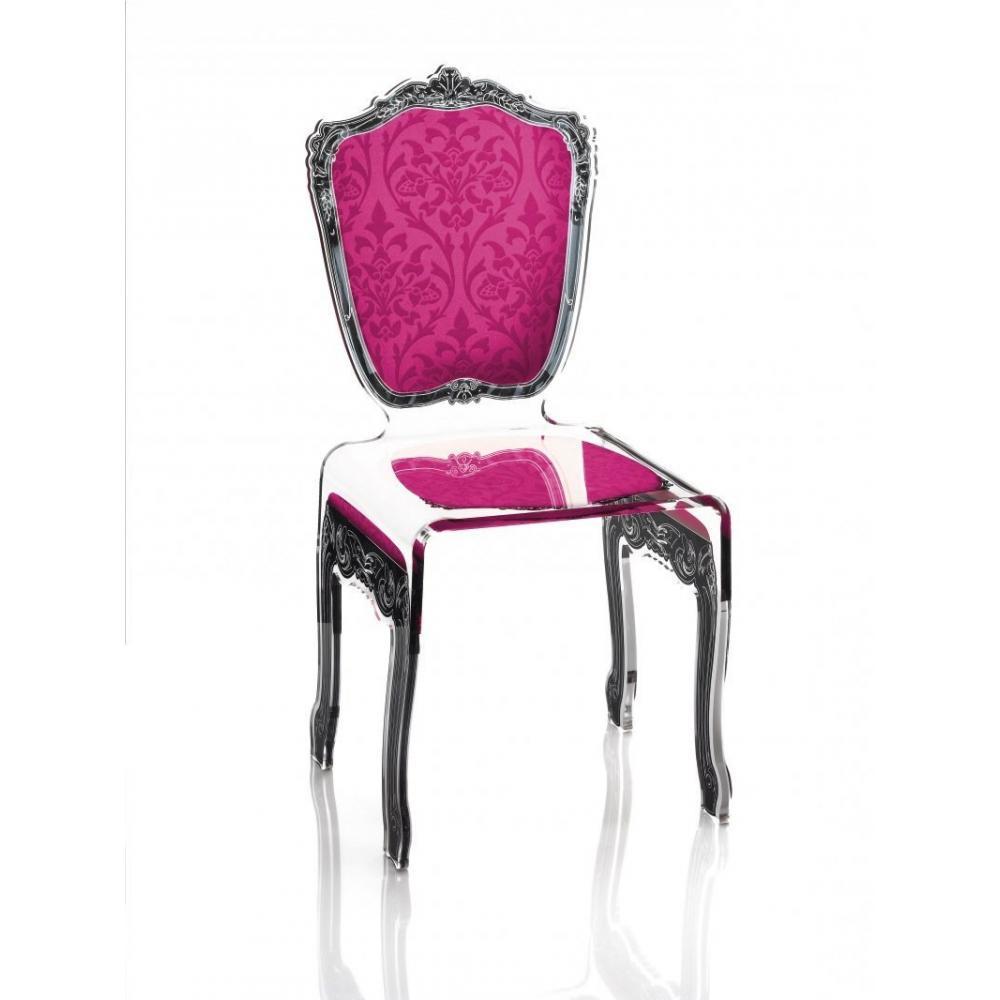BAROQUE Chaise En Plexi Rose ACRILA Design