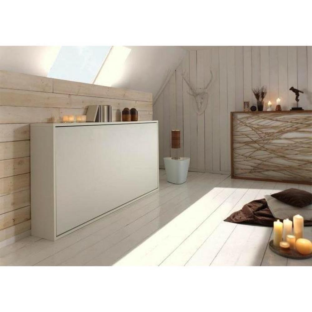 armoire lit escamotable horizontale transversale au meilleur prix lit escamotable benzo. Black Bedroom Furniture Sets. Home Design Ideas