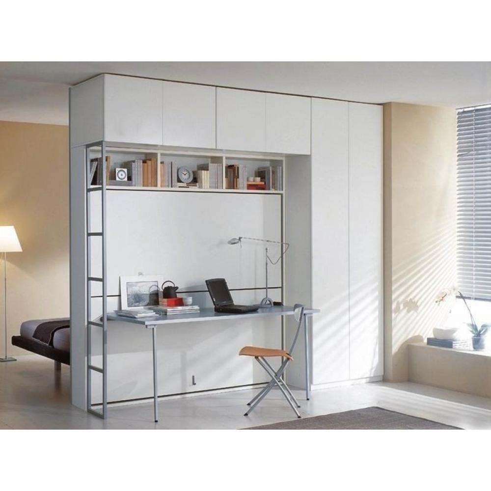 Armoire lit escamotable combin bureau au meilleur prix armoire lit superpos - Lit escamotable bureau ...