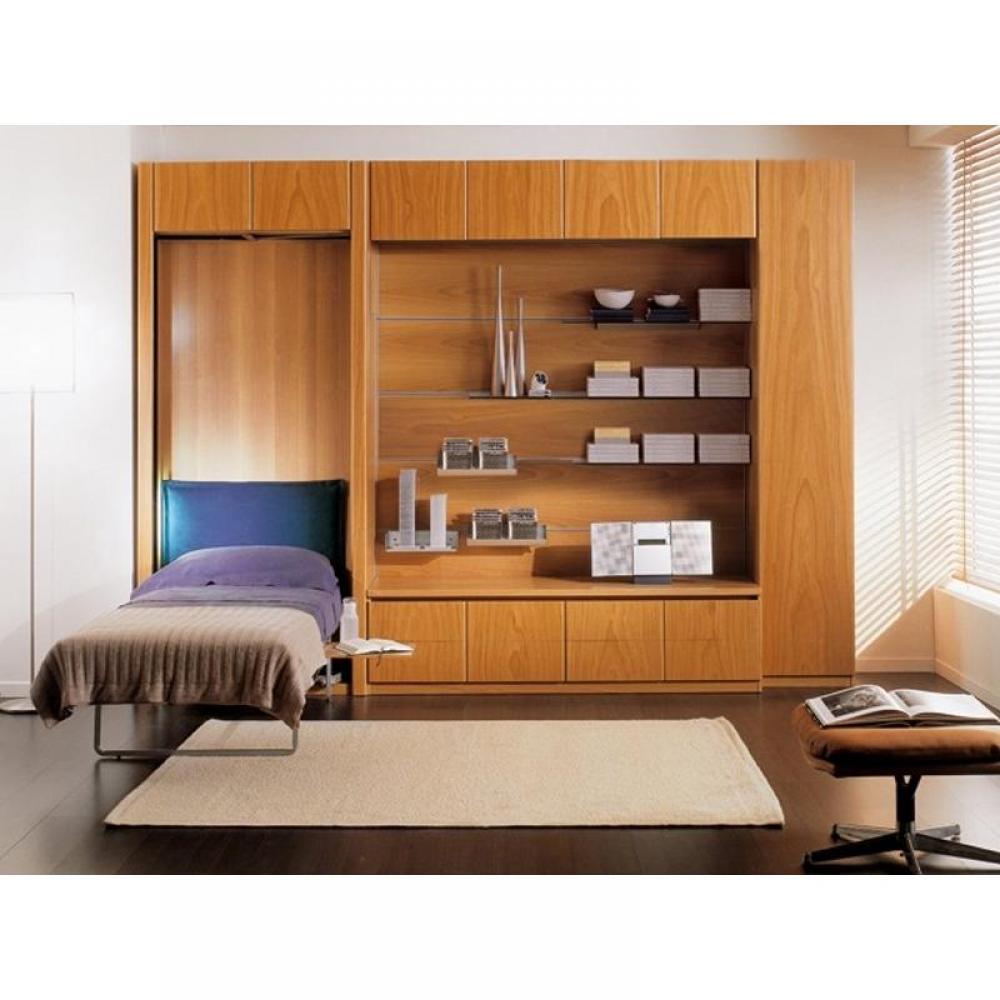 Armoire lit simple escamotable 1 personne au meilleur prix lit une place esc - Lit escamotable une place ...