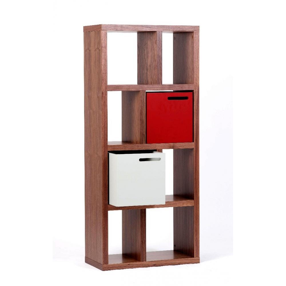 Biblioth Ques Tag Res Meubles Et Rangements Temahome Berlin Petite Biblioth Que Noyer 4