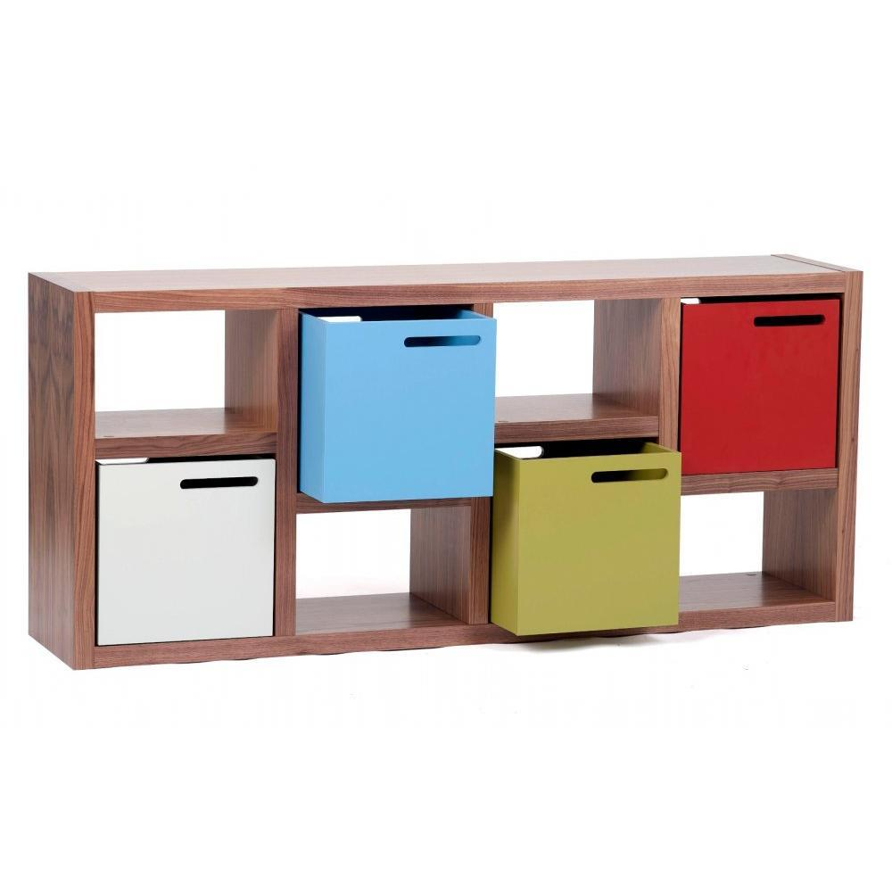 biblioth ques tag res meubles et rangements temahome berlin petite biblioth que noyer 4. Black Bedroom Furniture Sets. Home Design Ideas