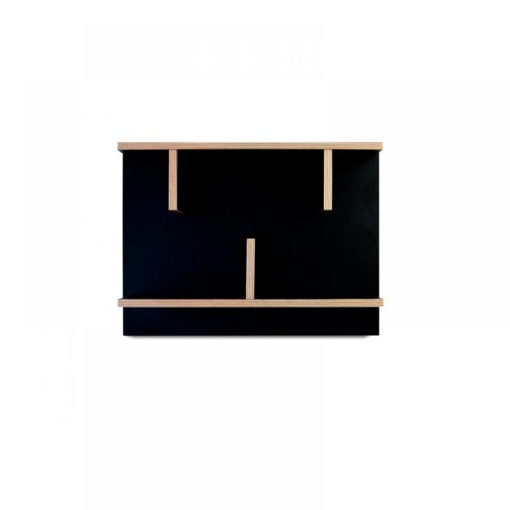 Etag Res Murales Meubles Et Rangements Etag Re Murale Temahome Bern Noire Et Bois 60 Cm Inside75