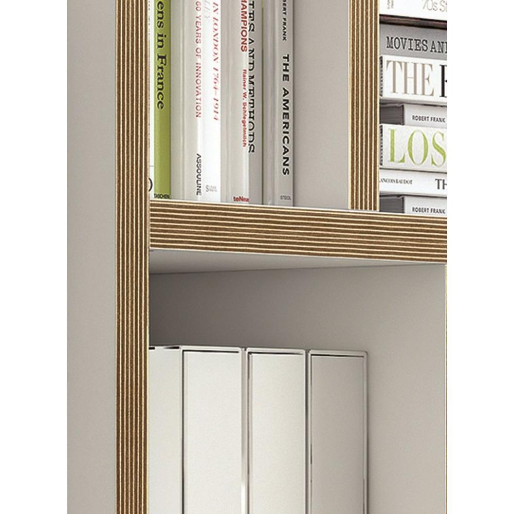 tag res de s paration meubles et rangements berlin biblioth que tag re blanche mate et bois. Black Bedroom Furniture Sets. Home Design Ideas