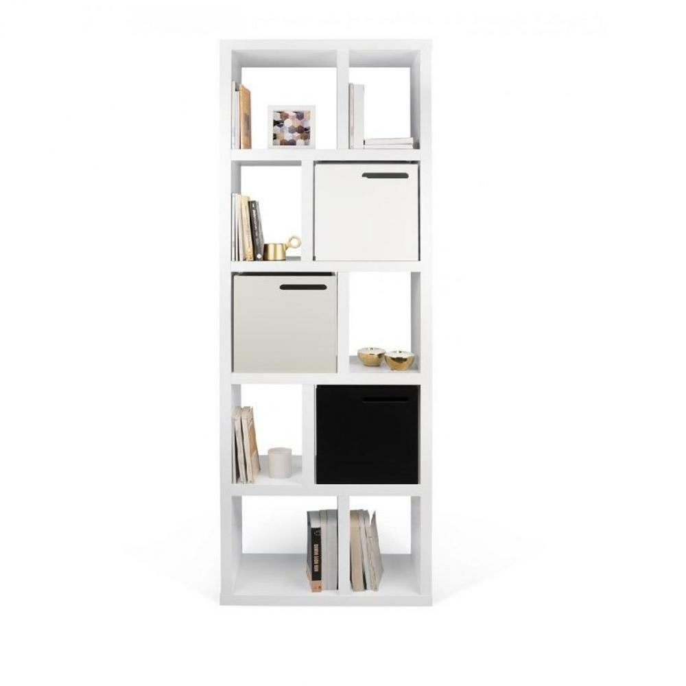 biblioth ques tag res meubles et rangements berlin biblioth que blanche 5 niveaux inside75. Black Bedroom Furniture Sets. Home Design Ideas