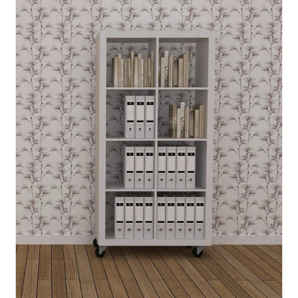 biblioth ques tag res meubles et rangements temahome biblioth que design rolly blanche mate 2. Black Bedroom Furniture Sets. Home Design Ideas